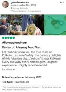 Tripadvisor Review of Calcutta's Best Food Tour